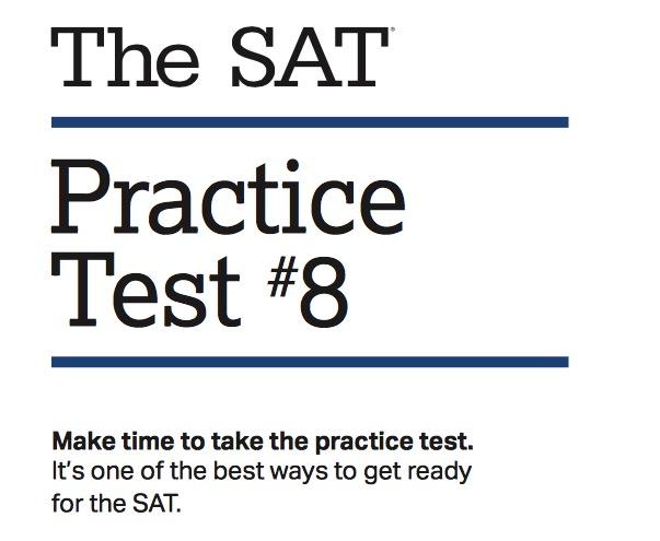 College Board Releases SAT Practice Test 8 | TPAPT